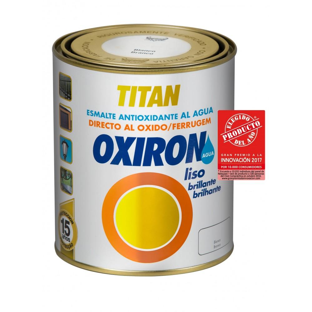 OXIRÓN LISO AL AGUA. Esmalte antióxido Brillante