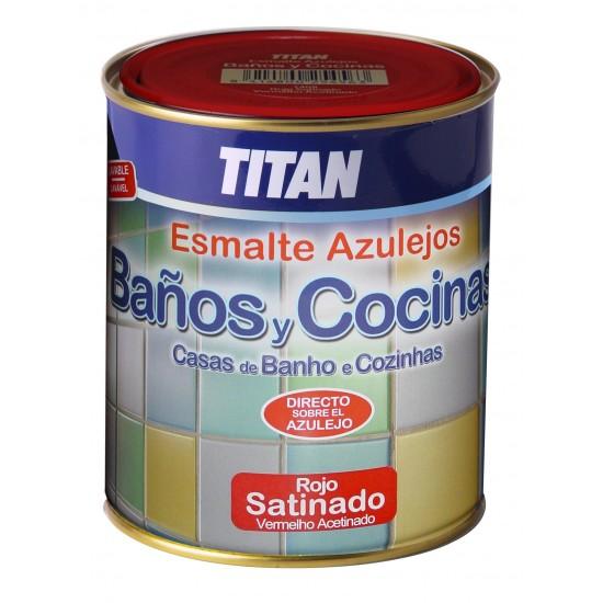 TITAN BAÑOS Y COCINAS. Esmalte directo sobre azulejos